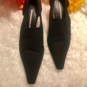 Donald J. Pliner Black Fabric Heels